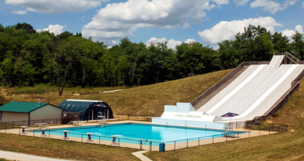 Slip and Fly is the Coolest Pool Slide