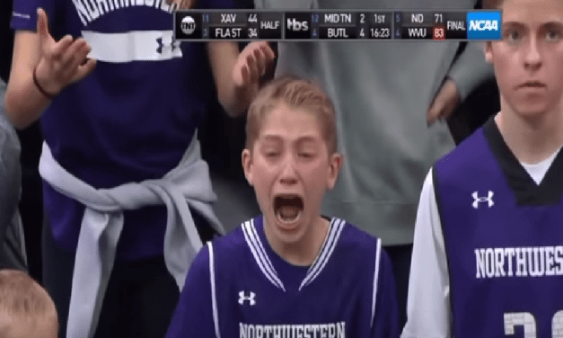 This Crying Kid Really Likes His Team