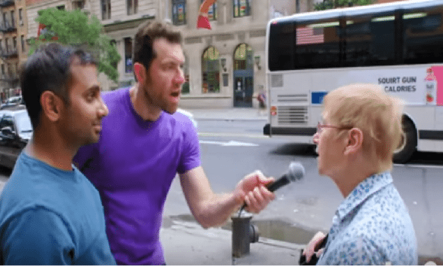 Aziz Ansari Rushes People And Tells Them About Television