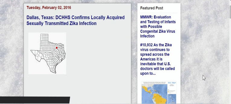 A Sexually Transmitted Case of Zika Virus in Dallas Texas