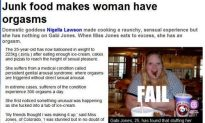Fat Lady Cums When She Eats