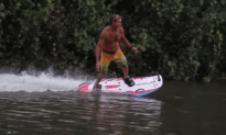 Laird Hamilton Tries Out Jetsurf