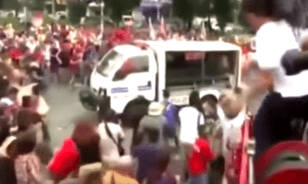 Philippine Police Run Over Attacking Protesters (Graphic)