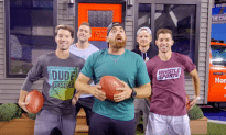 Dude Perfect Shows Off His Football Skills