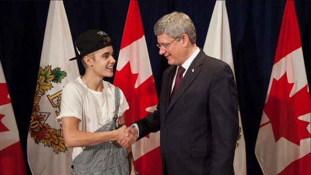 Justin Bieber Wears Freaking Overalls to Meet the Prime Minister of Canada