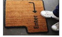 Someone Get Mr. Kosher This Awesome Welcome Mat!